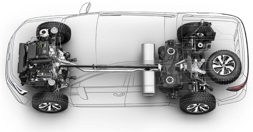 VW сделал пятиметровый пикап набазе «Тигуана»