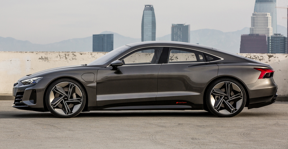 седан Audi E Tron Gt будущий родственник тайкана авторевю