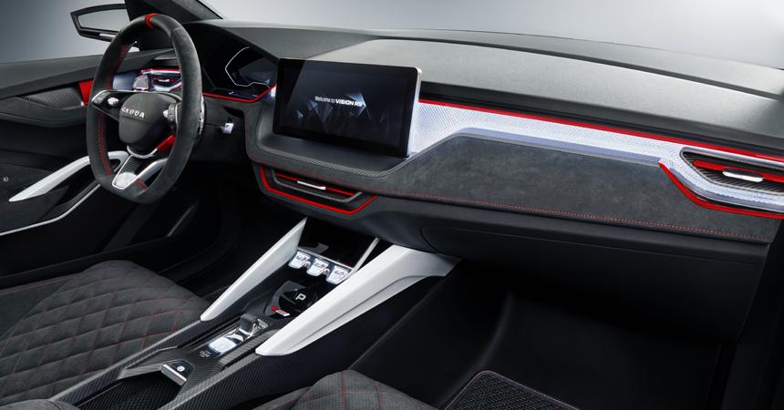 Представлен «заряженный» хэтчбек Skoda Vision RS