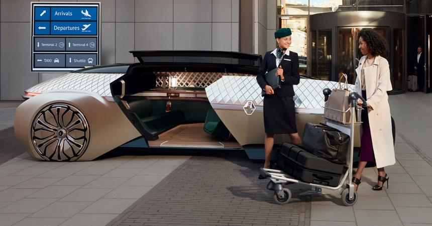 Рэно представила автомобиль будущего— беспилотный электрокар сосветящимся кузовком