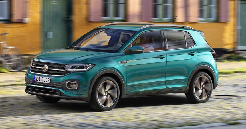 VW представила свой 1-ый кроссовер вклассе малолитражных авто T-Cross 2019