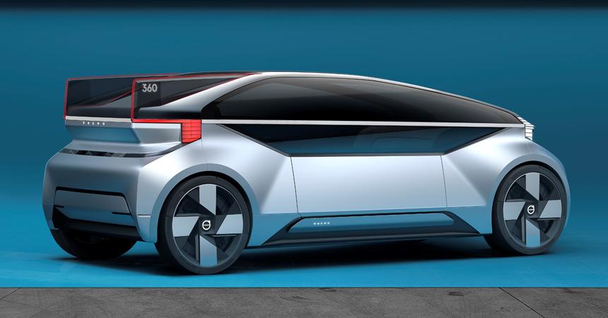 Вольво представила концепт-кар беспилотного автомобиля без руля ипедалей