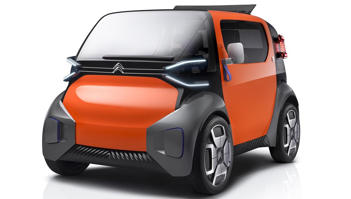Ситроэн продемонстрировал сверхкомпактный электромобиль Ami One