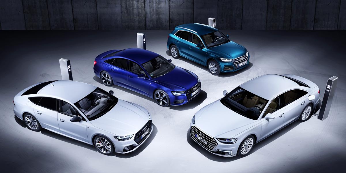 Ауди выпустила гибридные версии четырех моделей