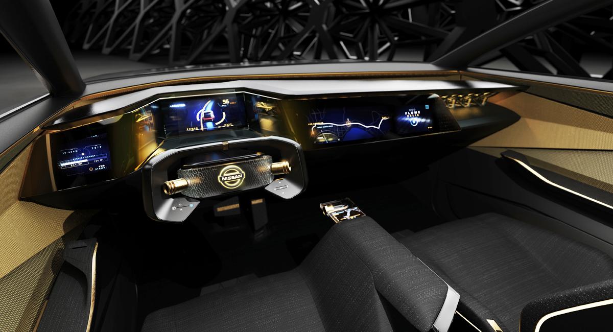 Седан Nissan IMs предложил новую концепцию салона