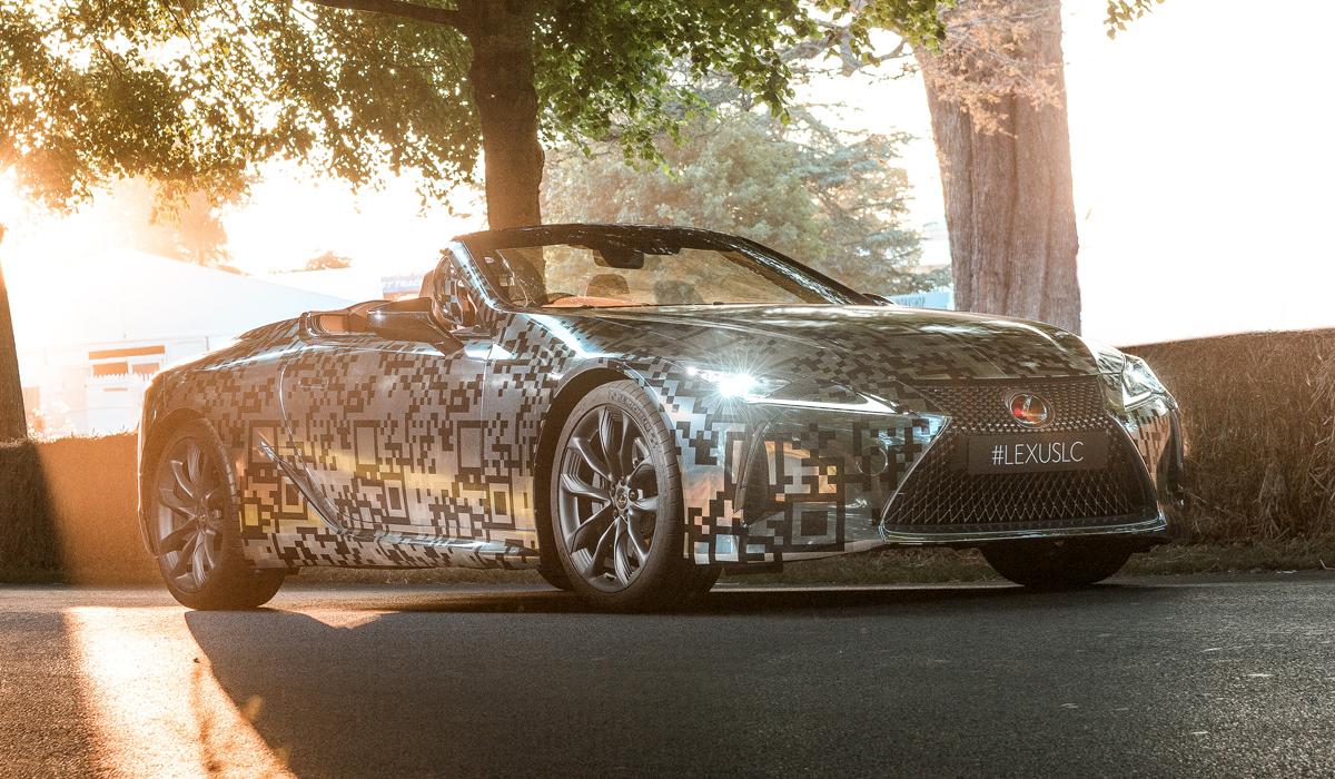 Кабриолет Lexus LC: предсерийная версия