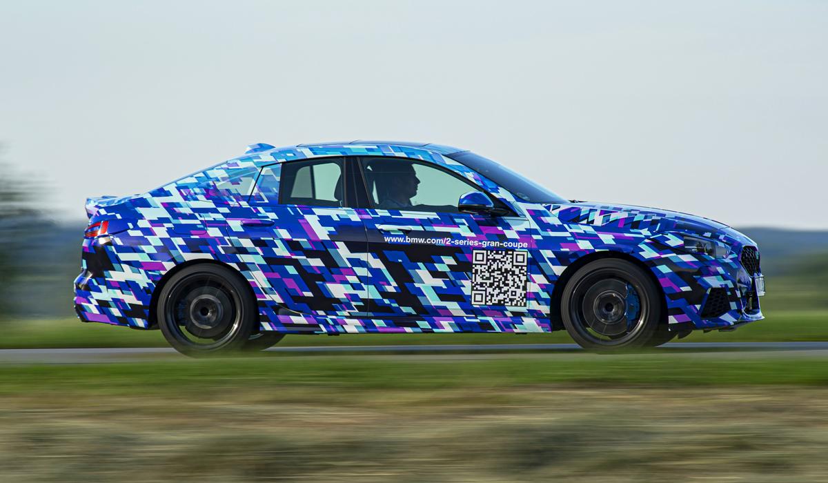 BMW Gran Coupe второй серии: пока в камуфляже