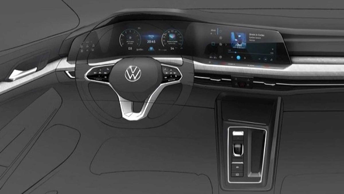 Новый Volkswagen Golf: первое изображение интерьера