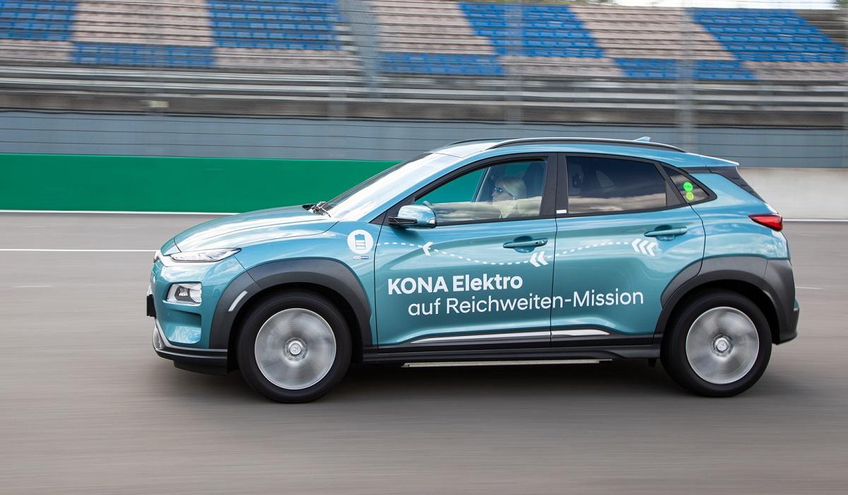 Hyundai Kona Electric: более 1000 км на одном заряде батареи