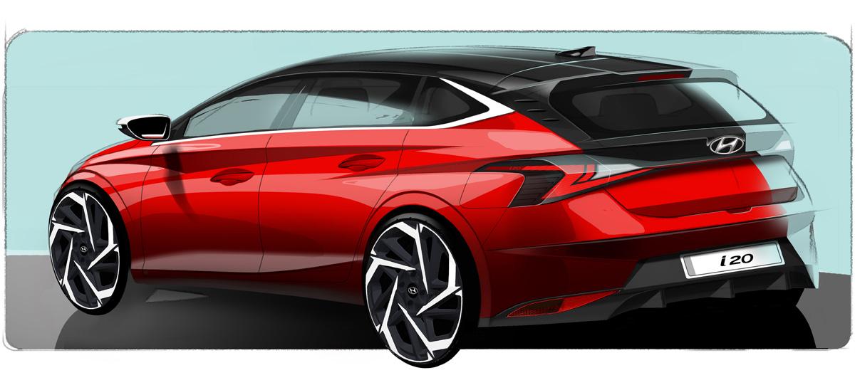 Будущий хэтчбек Hyundai i20 засветили на эскизах