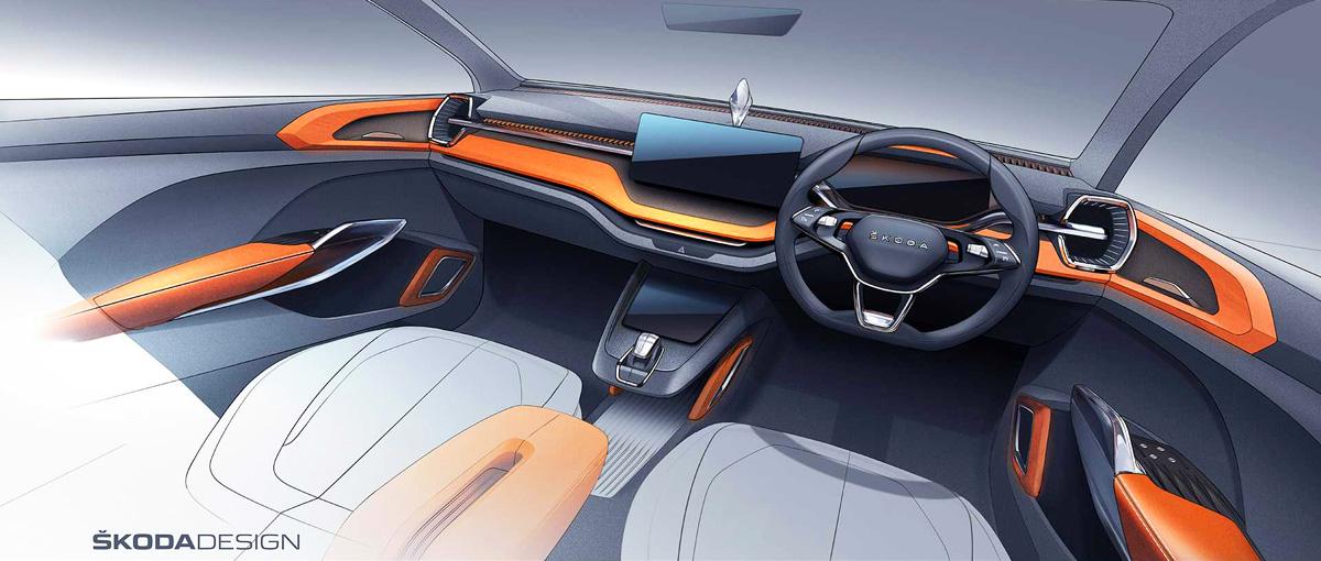 Будущий кроссовер Skoda Vision IN: новые изображения