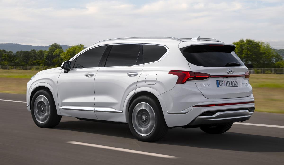 In South Korea, sales of updated Hyundai Santa Fe crossovers