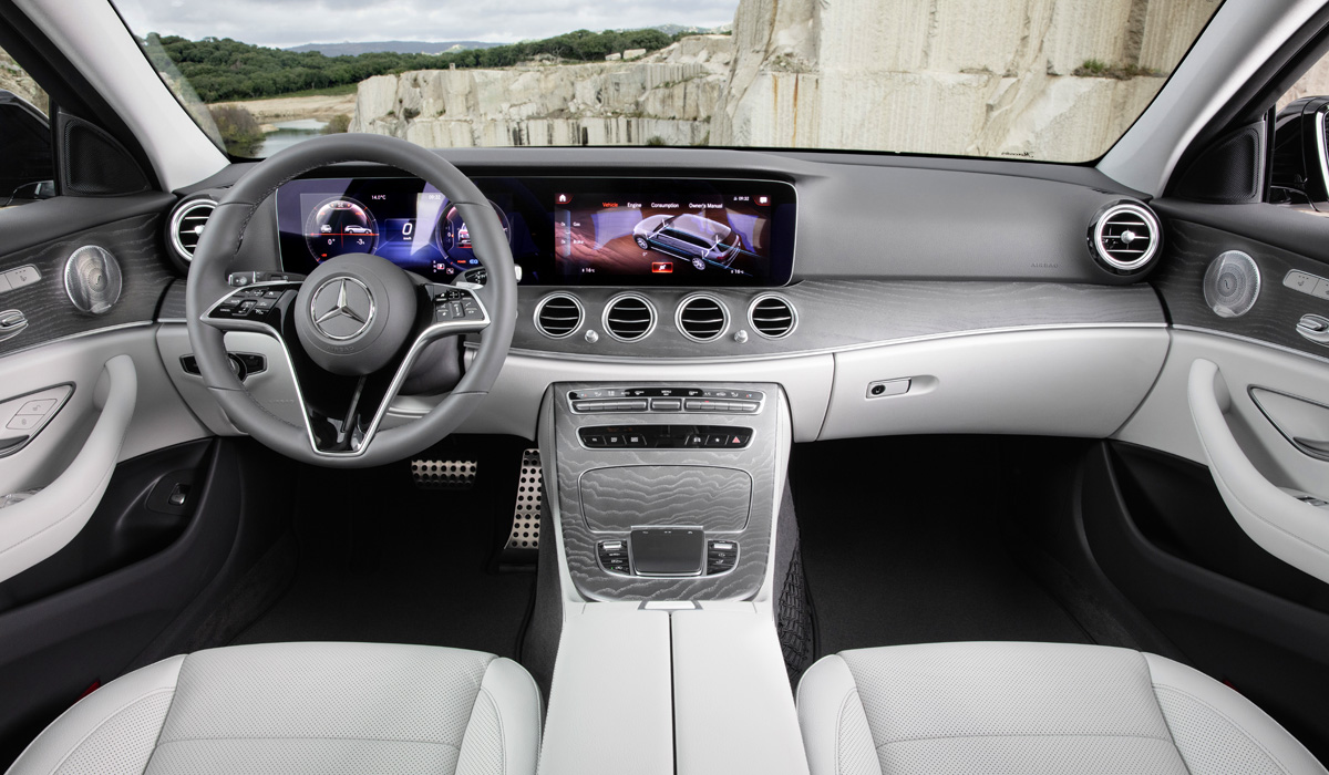 Like the sedan, the station wagon got a redesigned front end, a new steering wheel, and a touch-screen MBUX media system