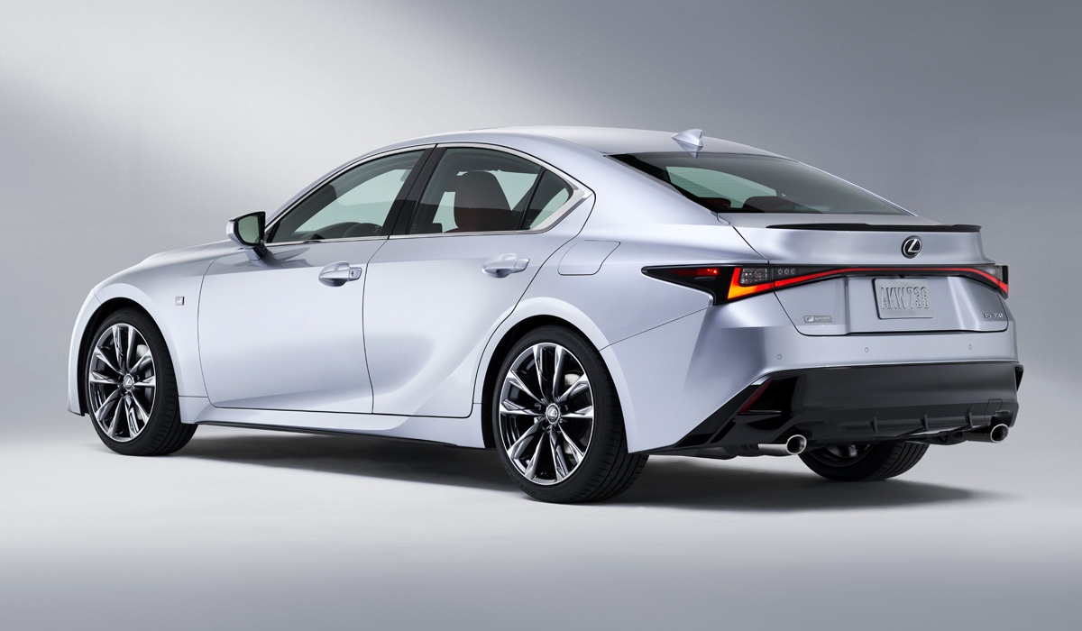The Lexus IS is expected to retain the current set of powertrains. This is a two-liter turbocharger, an atmospheric V6 3.5 and a hybrid powerplant. Details about the new sedan will be available tomorrow.