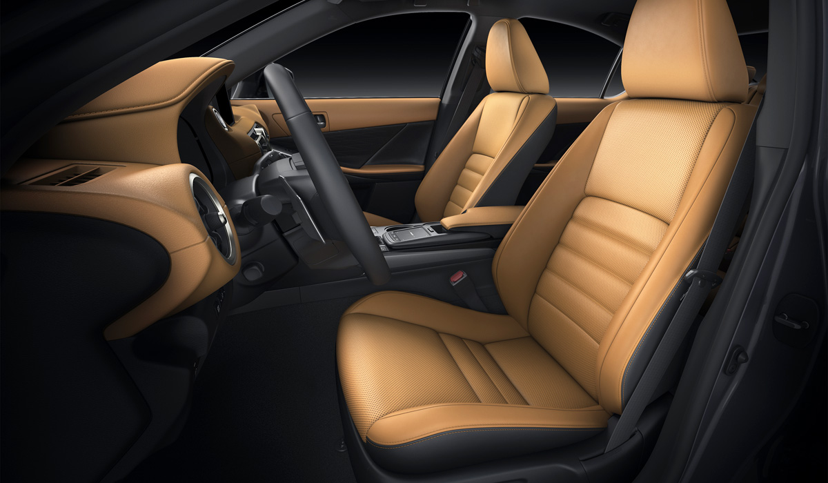 The F Sport version is available only in the Lexus IS 350