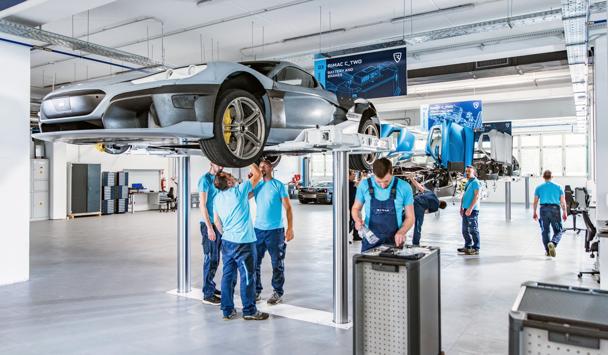 The Croatian company Rimac Automobili is preparing to start production of mass-produced second-generation electric cars With Two. The new plant was built in the village of Veliko Trgovishche, while the production line is