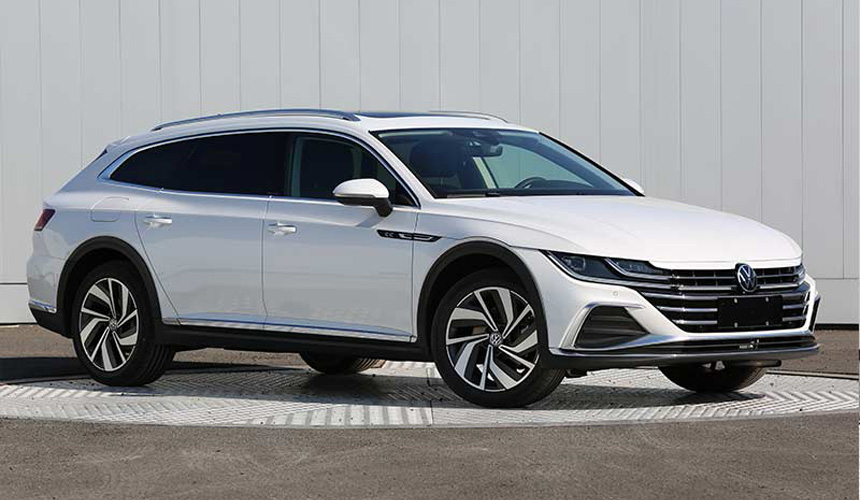 As for the station wagon, which will join the liftback after the restyling, in China it will only be sold in a cross-version with black trim around the perimeter of the body. In length, it almost does not differ from the base Arteon (4869 against 4865 mm),