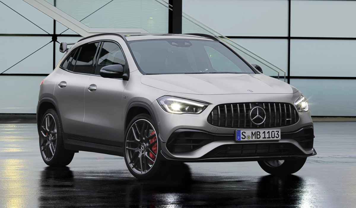 "The GLA 45 modification is not presented in Russia, but the most extreme Mercedes-AMG GLA 45 S is available for order, and it is arranged much more seriously than the ""thirty-fifth"