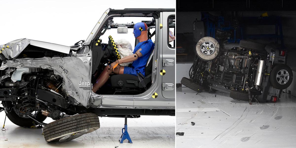 Jeep Wrangler перевернулся на краш-тестах. Дважды
