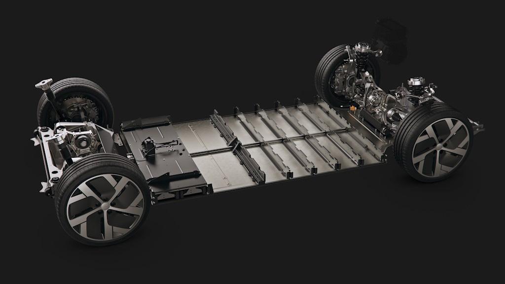 lucid air chassis2 - Серийный седан Lucid Air: объявлены характеристики и цены