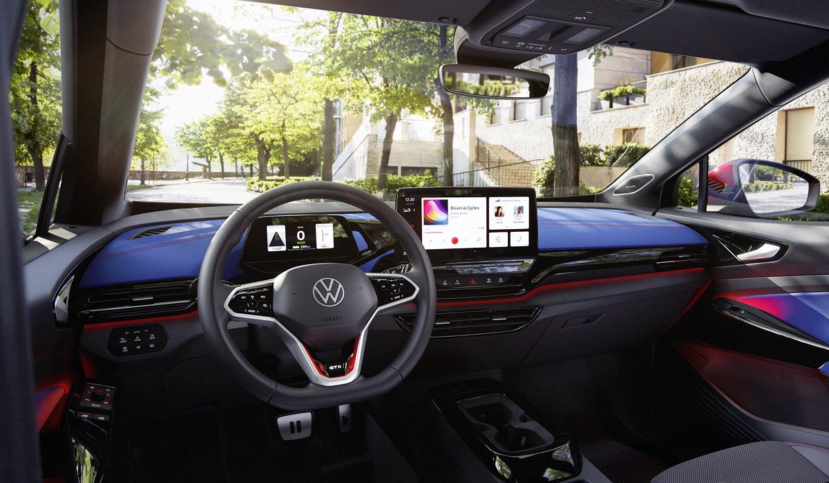 Электрический паркетник Volkswagen ID.4 GTX самый мощный и драйверский электромобиль с полным приводом в гамме