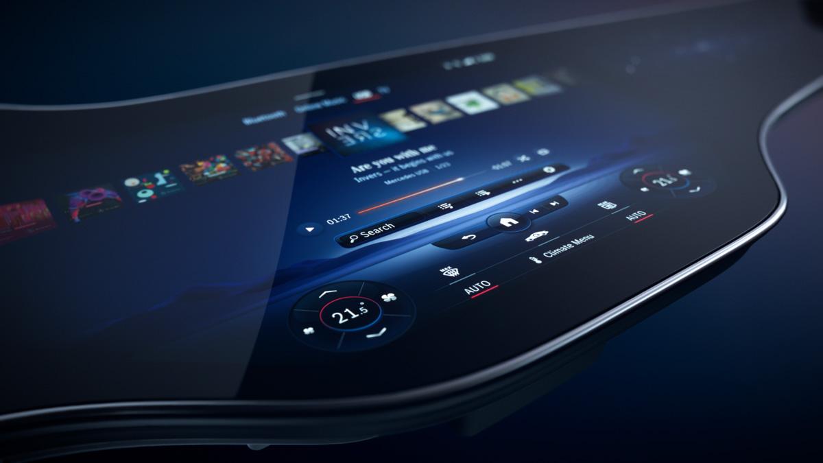 mbux hyperscreen2 - Электромобиль Mercedes EQS будет иметь Hyperscreen