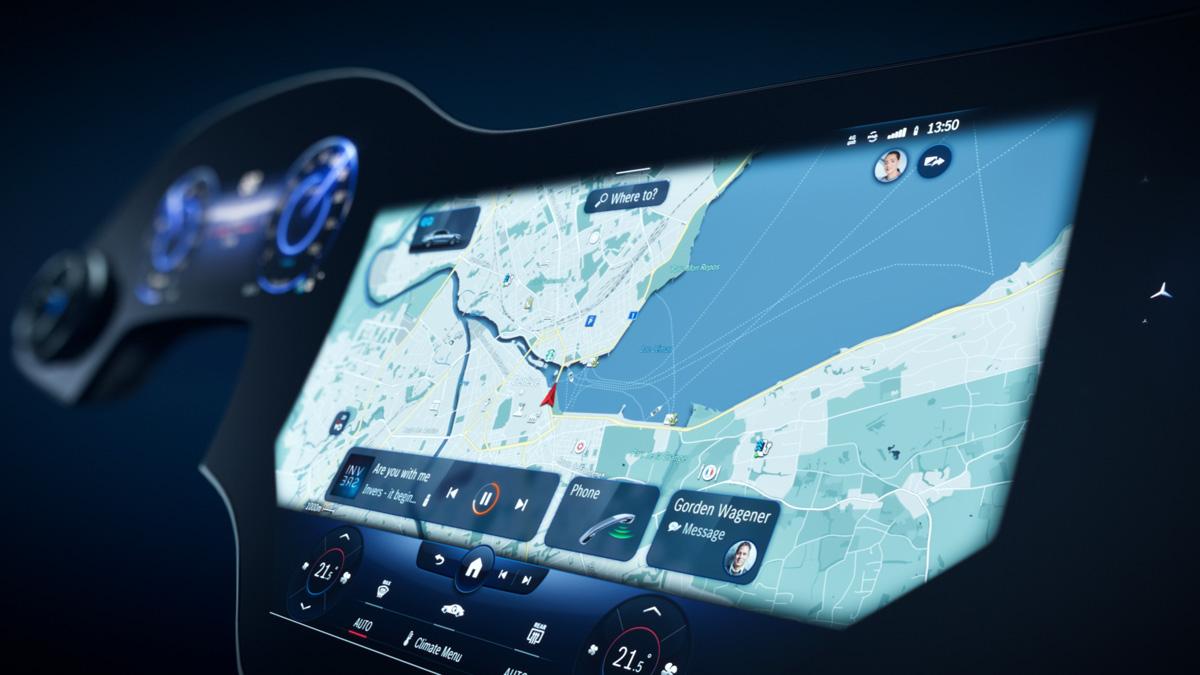 mbux hyperscreen3 - Электромобиль Mercedes EQS будет иметь Hyperscreen