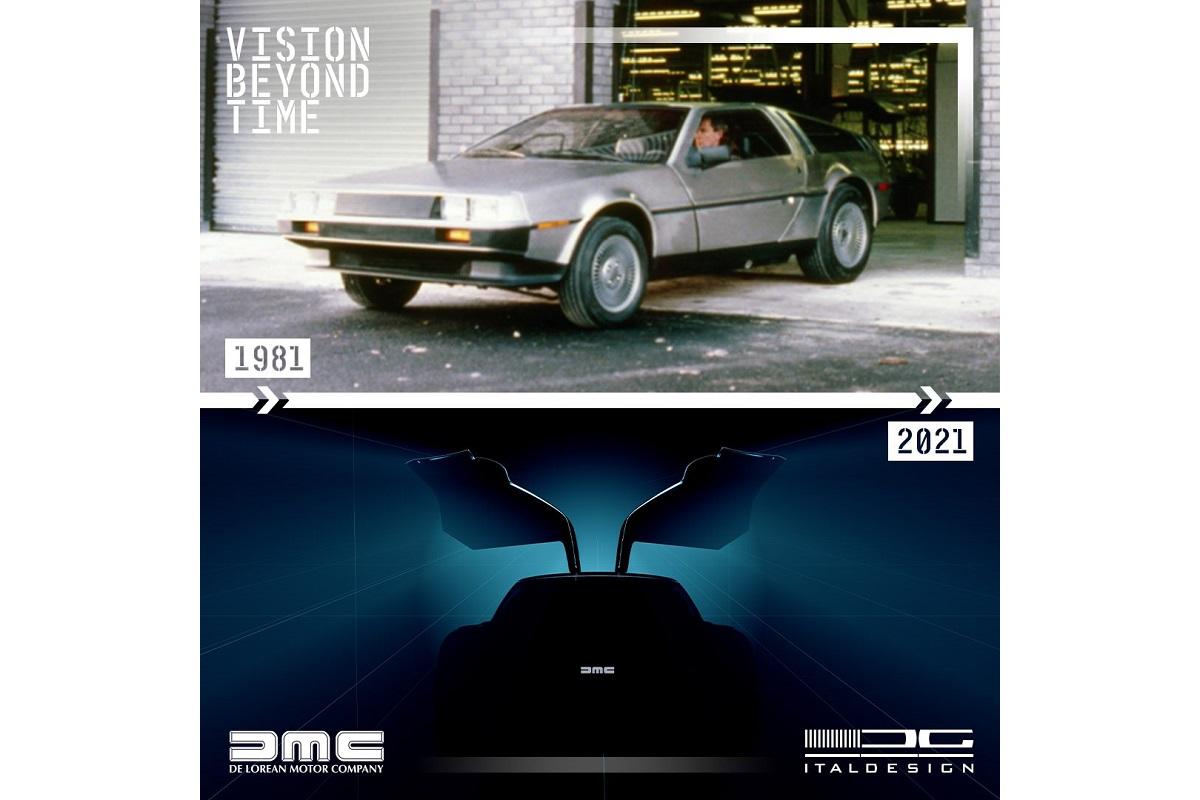 Italdesign показал тизер возрожденного купе DeLorean