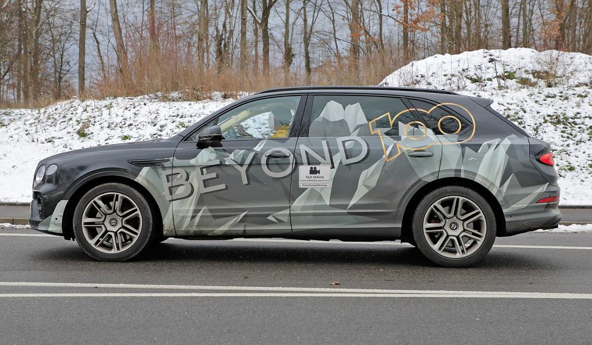 Фотошпионы подловили длиннобазный кроссовер Bentley Bentayga