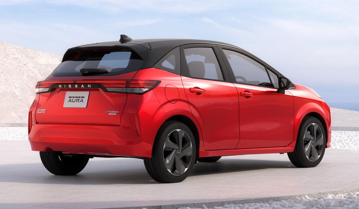 Новый хэтчбек Nissan Note Aura: престижнее и мощнее