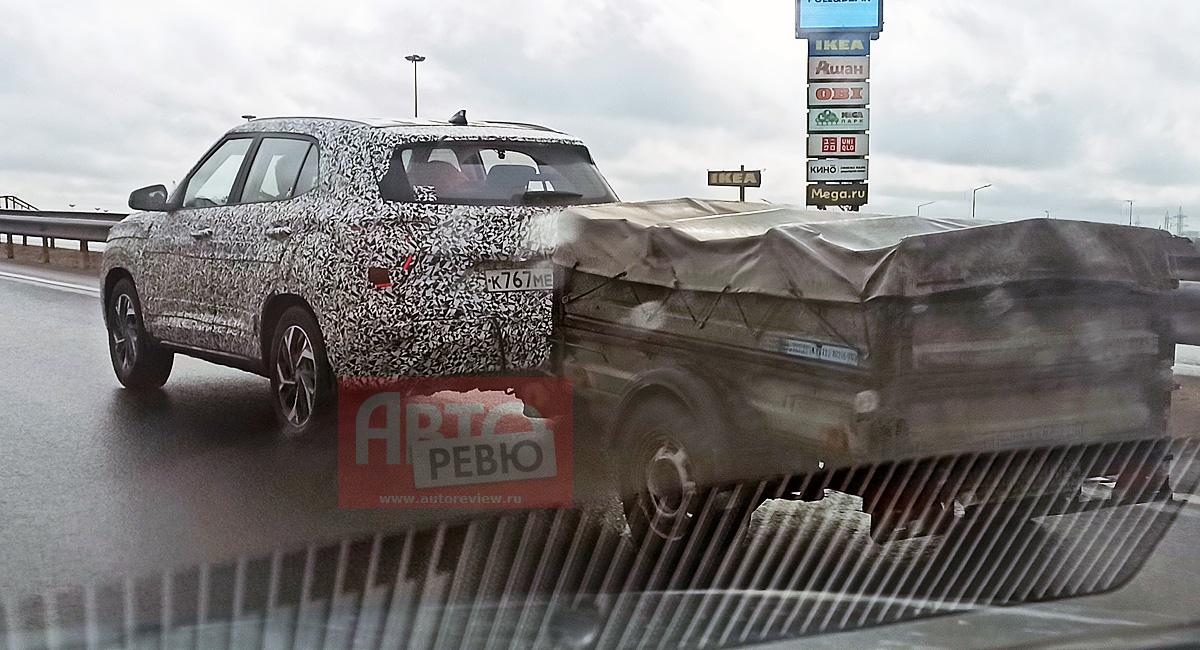 Фотошпионаж: новый кроссовер Hyundai Creta для России