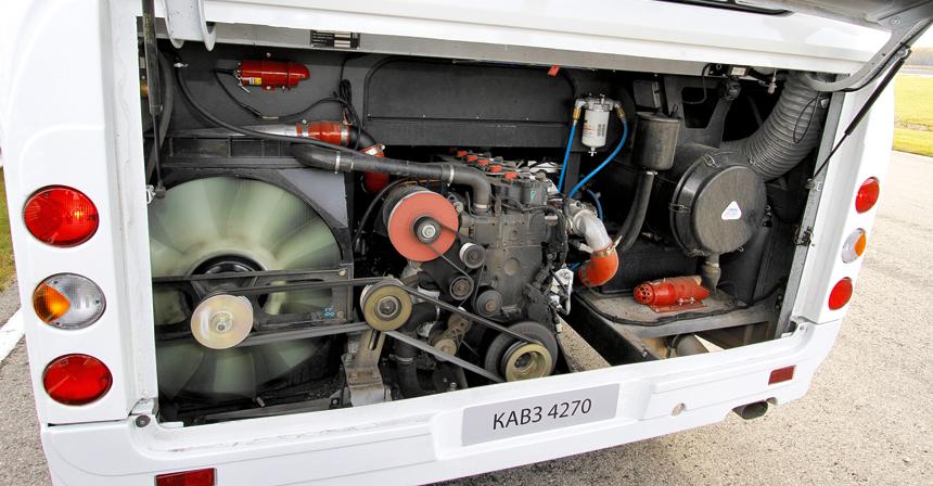 Двигатель — Cummins 6.7 CNG, но в следующем году его заменят на ЯМЗ-534 CNG